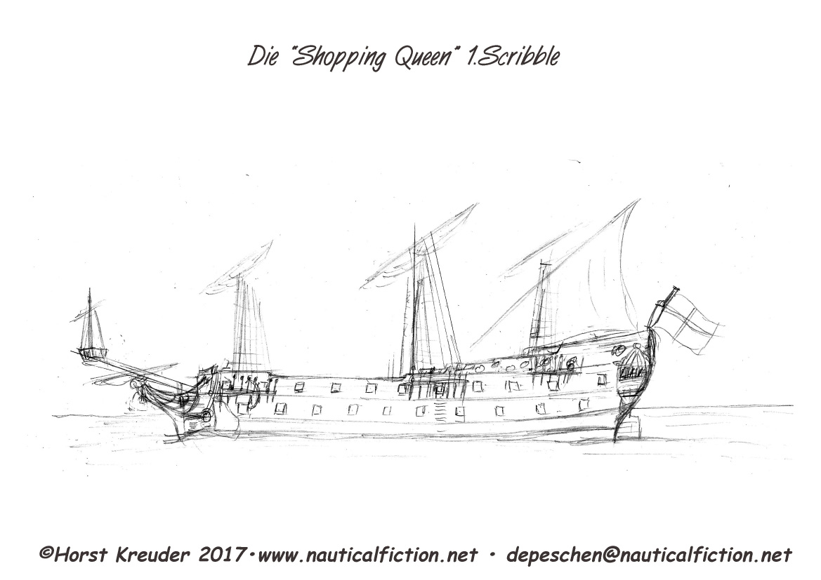 """Shopping Queen"" erster Scribble"