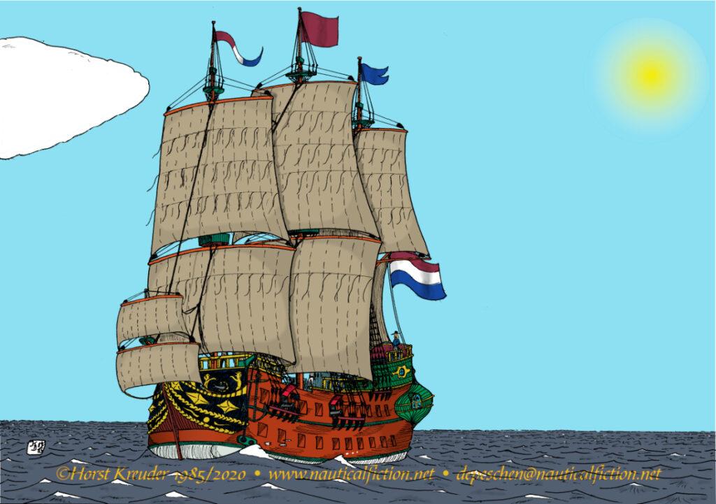 Holländisches Schiff des späten 17. Jahrhunderts